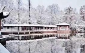 2018年西湖雪景 断桥残雪重现